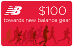 $100 gift card to New Balance