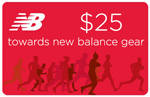 $25 gift card to New Balance