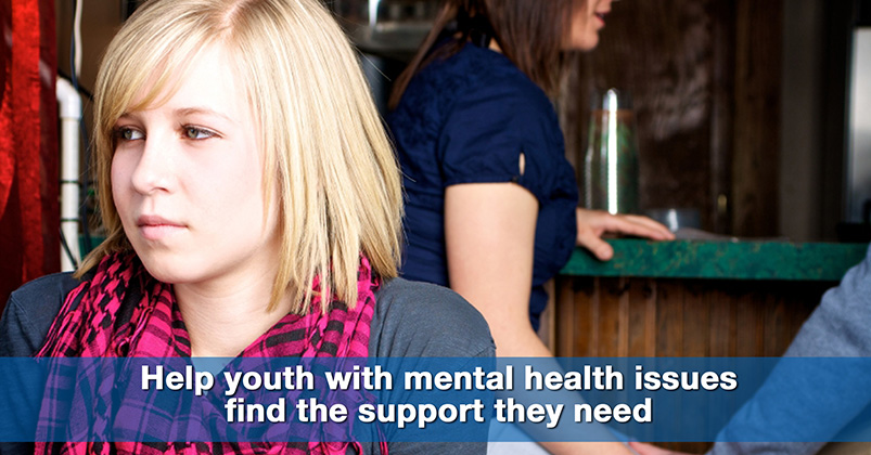 help youth with mental health issues find the support they need