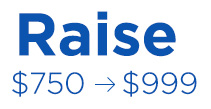 raise $750 - $999  and receive